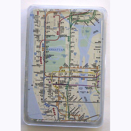 Subway Map Paper Products.Nyc Subway Map Playing Cards