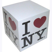 I Love NY White Paper Cube