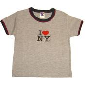 I Love NY Ash Ringer Baby Tee