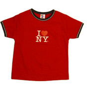 I Love NY Red Ringer Baby Tee