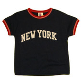 New York Navy Ringer Baby Tee