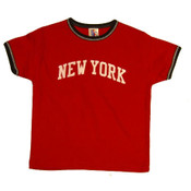 New York Red Ringer Baby Tee