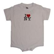 I Love NY White Onesie
