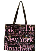 NYC Pink Letters PVC Hand Bag
