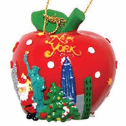 Big Apple NY Christmas Ornament photo