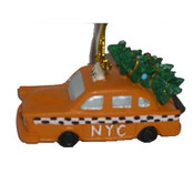 Christmas Tree Taxi NYC Christmas Ornament