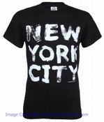 "New York City ""Painted"" Black Tee"