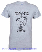 New York Attitude Grey Adult Tee