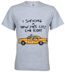 I Survived A New York City Cab Ride Adult Tee Photo