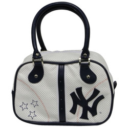 "Yankees Navy ""Stars"" Bowling Bag Purse Photo"