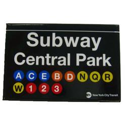 Central Park Subway Magnet Photo