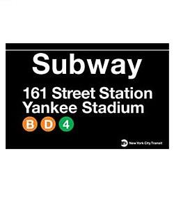 Yankee Stadium Subway Magnet photo