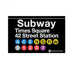 Times Square Subway Magnet photo