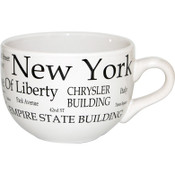 "NYC ""Black Letters"" Soup Mug"