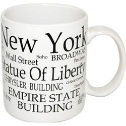 "NYC ""Black Letters"" 4oz. Mini Mug Photo"