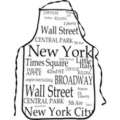"""NYC """"Black Letters"""" Apron"""