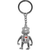 I Love NY Monkey Keychain