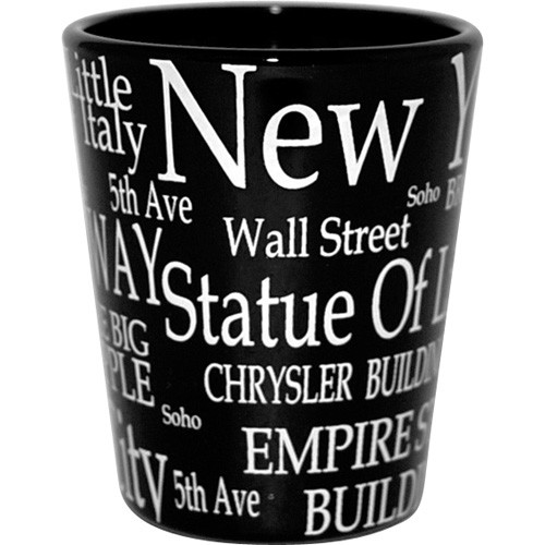 """NYC """"White Letters"""" Shot Glass photo"""