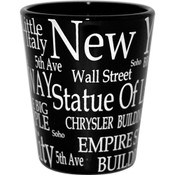 """NYC """"White Letters"""" Shot Glass"""