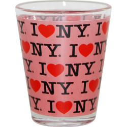 "I Love NY ""Repeat"" Pink Shot Glass Photo"