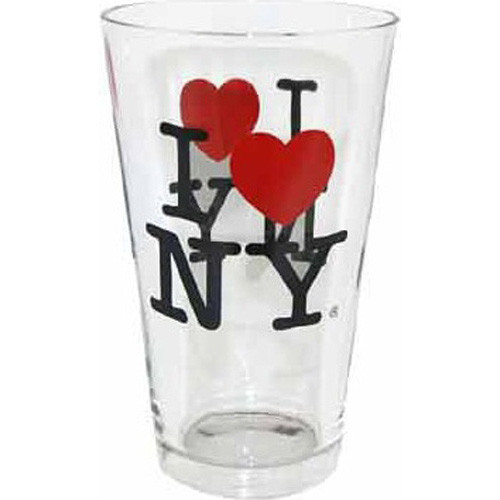 I Love NY Glass Tumbler photo