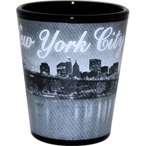 I Love NY At Night Shot Glass photo