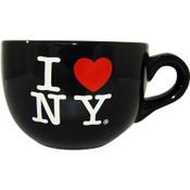 I Love NY Black Soup Mug