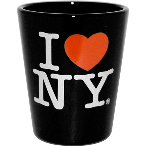 I Love NY Black Shot Glass photo