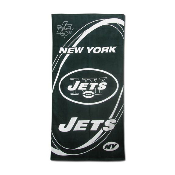 "NY Jets ""Hurricane"" Beach Towel photo"