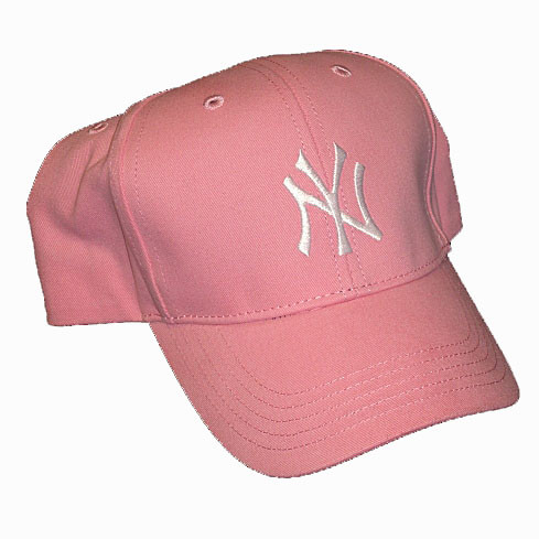 Yankees Kids Pink Adjustable Cap photo