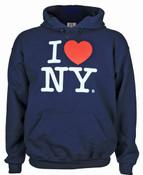 I Love NY Navy Hooded Sweatshirt