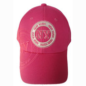 "Fuchsia New York ""Circle"" Cap"