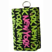 Neon Green New York Wallet