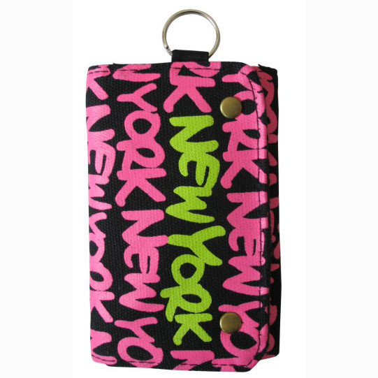 Neon Pink New York Wallet photo