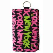 Neon Pink New York Wallet