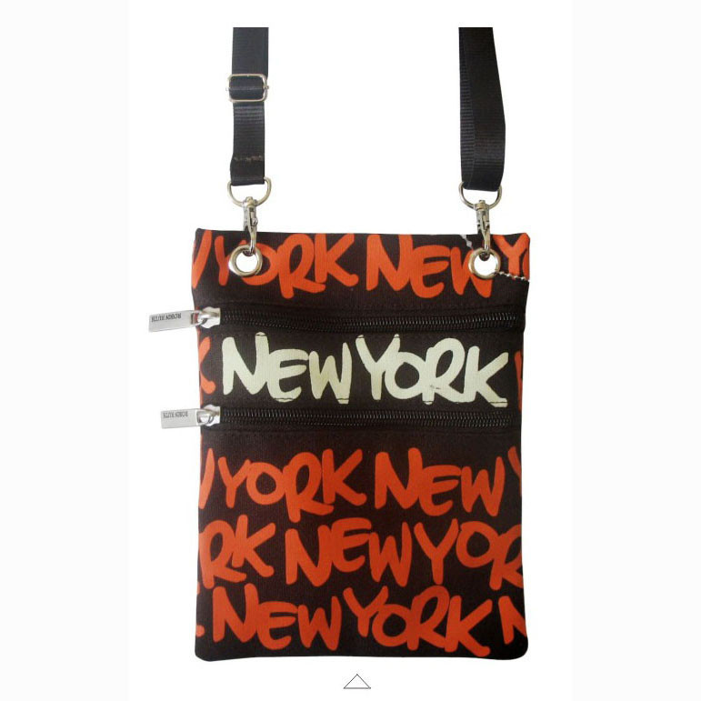 Orange New York Neck Wallet photo