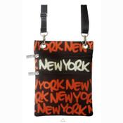 Orange New York Neck Wallet
