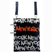Silver New York Neck Wallet