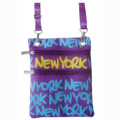 Blue New York Neck Wallet