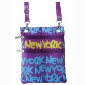 Blue New York Neck Wallet