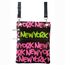 Neon Pink New York Neck Wallet Photo