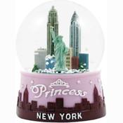 New York Pink Princess 100mm Light-up Snowglobe