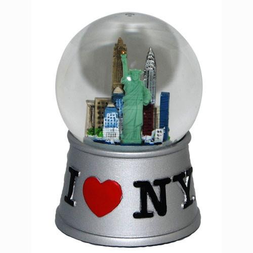 I Love NY Silver 45mm Snowglobe photo