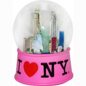 I Love NY Pink 45mm Snowglobe