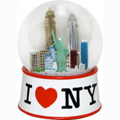 I Love NY White 45mm Snowglobe