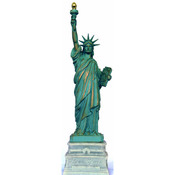 8 3/4 Inch Statue of Liberty w/ Half Base