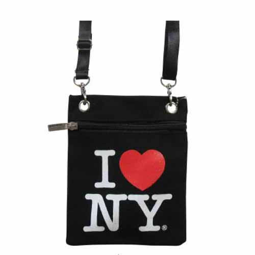 Black I love NY Neck Wallet photo