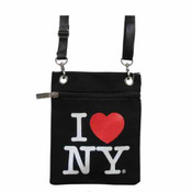 Black I love NY Neck Wallet