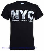 NYC Iconic Letters Black Adult Tee Shirt