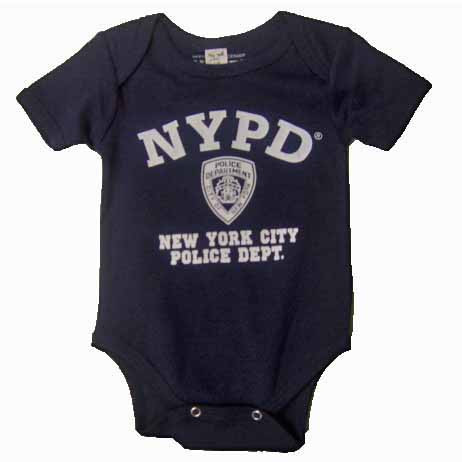 NYPD Full Chest Navy Onesie photo